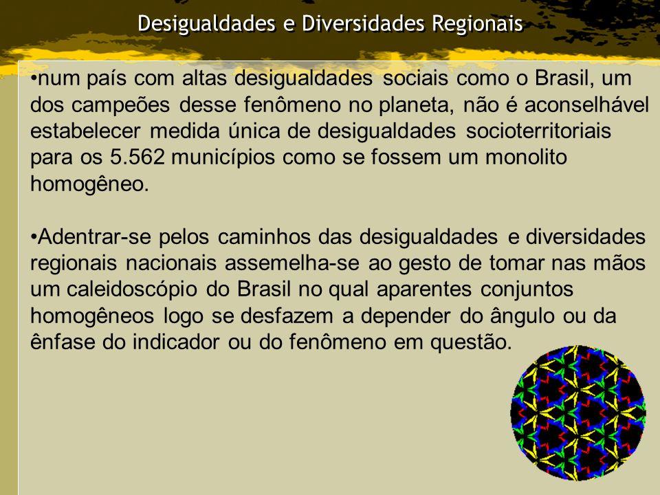 Desigualdades e Diversidades Regionais