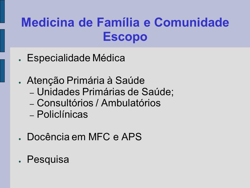 Medicina de Família e Comunidade Escopo