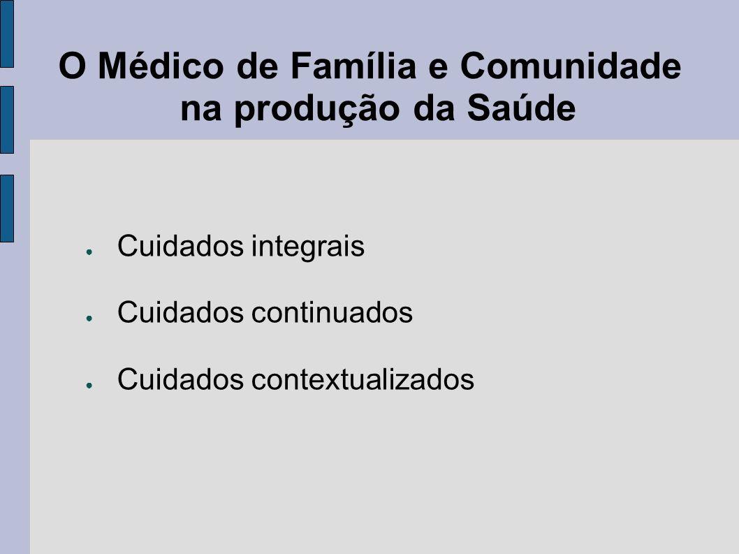 O Médico de Família e Comunidade na produção da Saúde