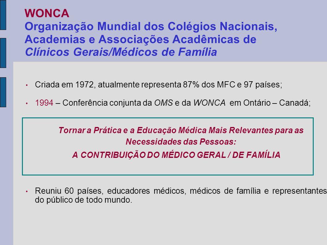 A CONTRIBUIÇÃO DO MÉDICO GERAL / DE FAMÍLIA