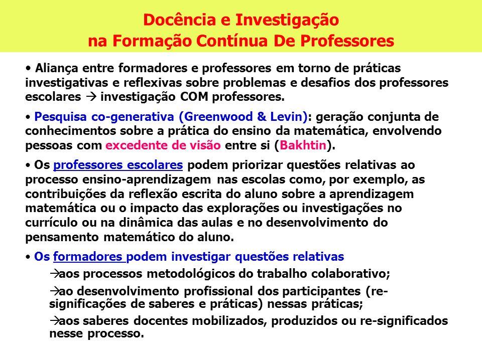 Docência e Investigação na Formação Contínua De Professores