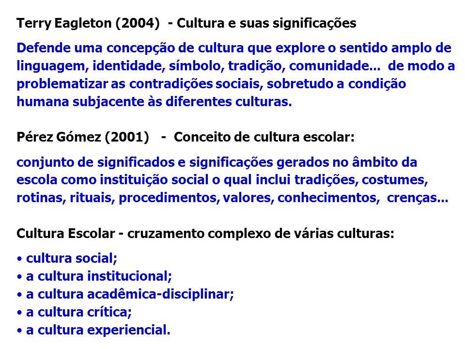Terry Eagleton (2004) - Cultura e suas significações
