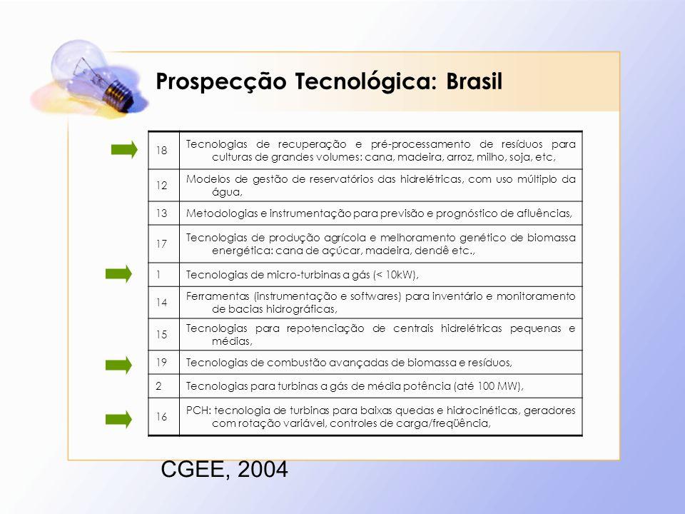 Prospecção Tecnológica: Brasil