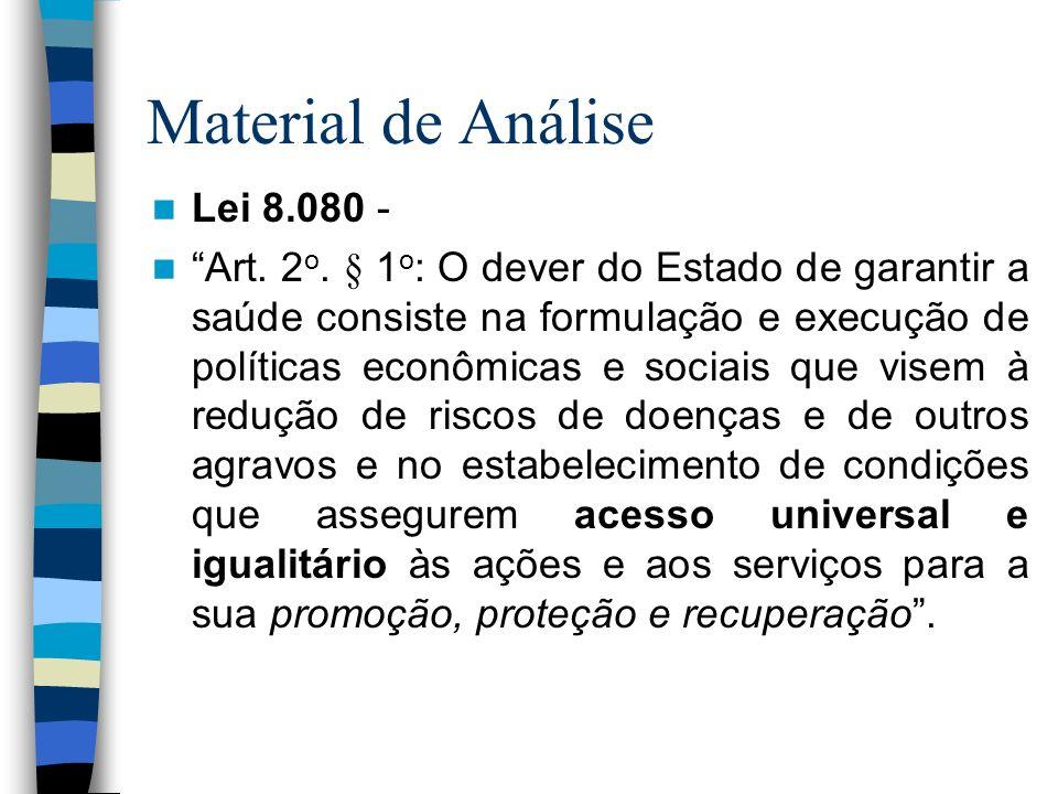 Material de Análise Lei 8.080 -