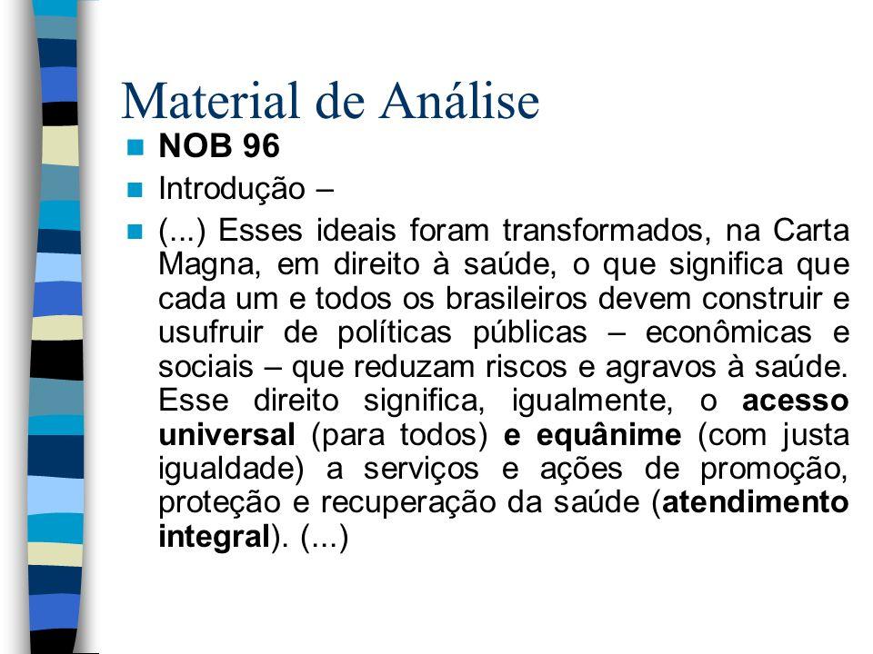 Material de Análise NOB 96 Introdução –