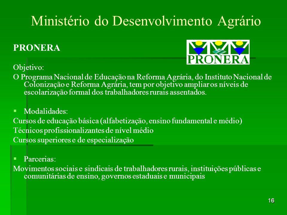 Ministério do Desenvolvimento Agrário