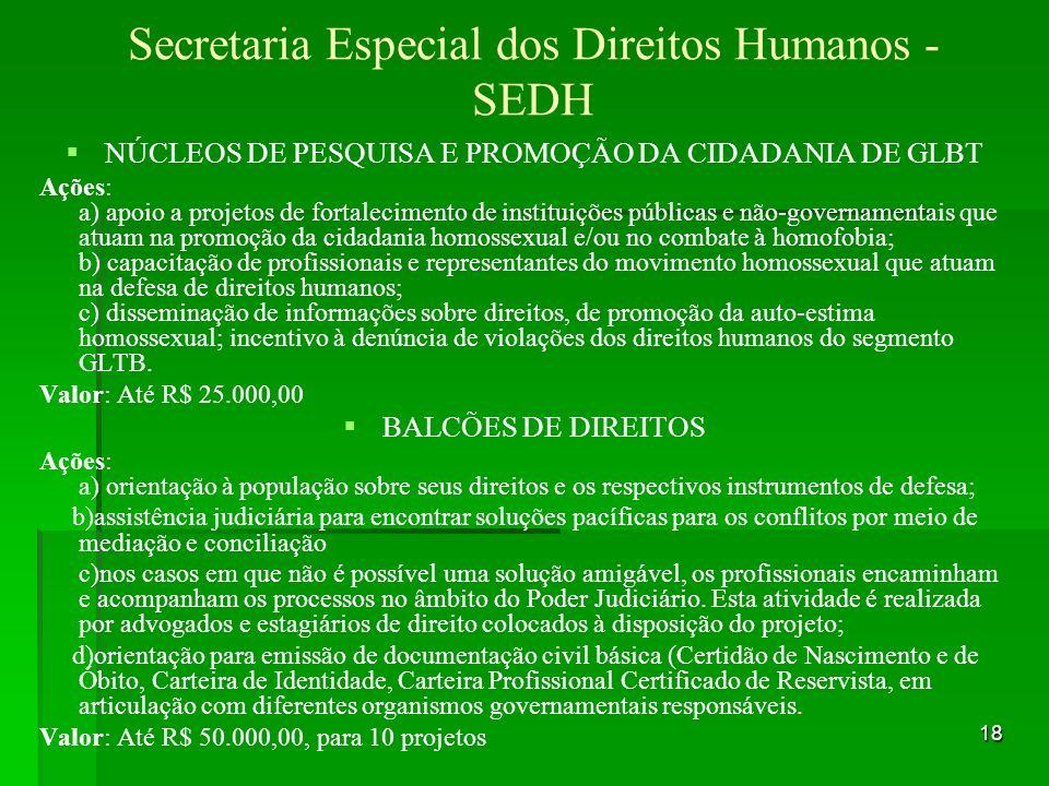 Secretaria Especial dos Direitos Humanos - SEDH