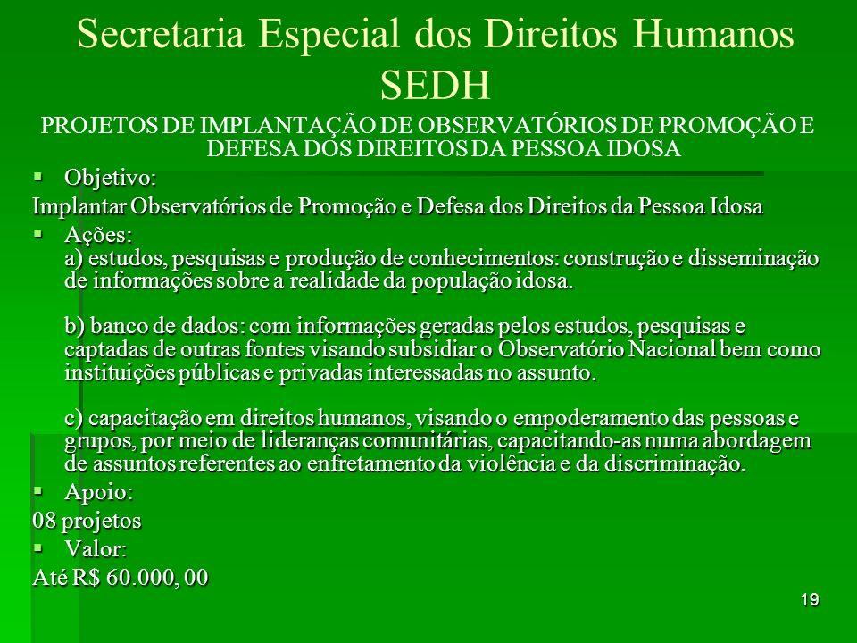 Secretaria Especial dos Direitos Humanos SEDH