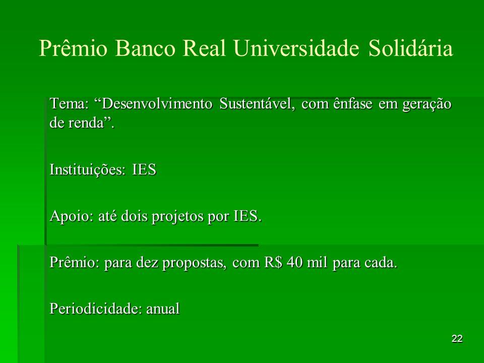 Prêmio Banco Real Universidade Solidária