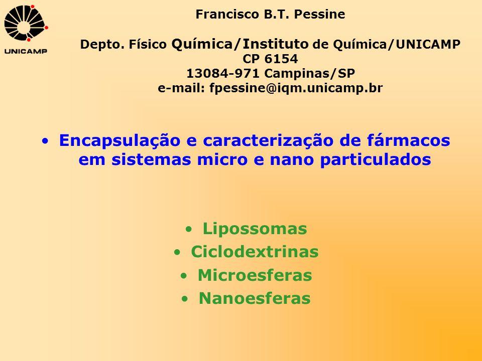 Lipossomas Ciclodextrinas Microesferas Nanoesferas