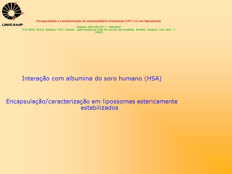 Interação com albumina do soro humano (HSA)