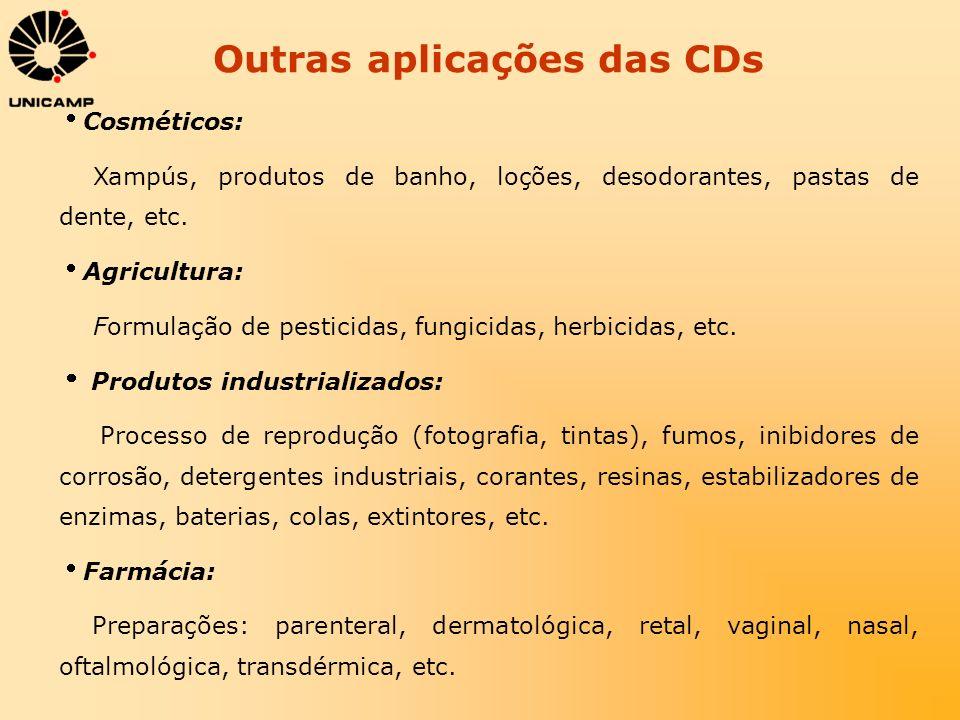 Outras aplicações das CDs