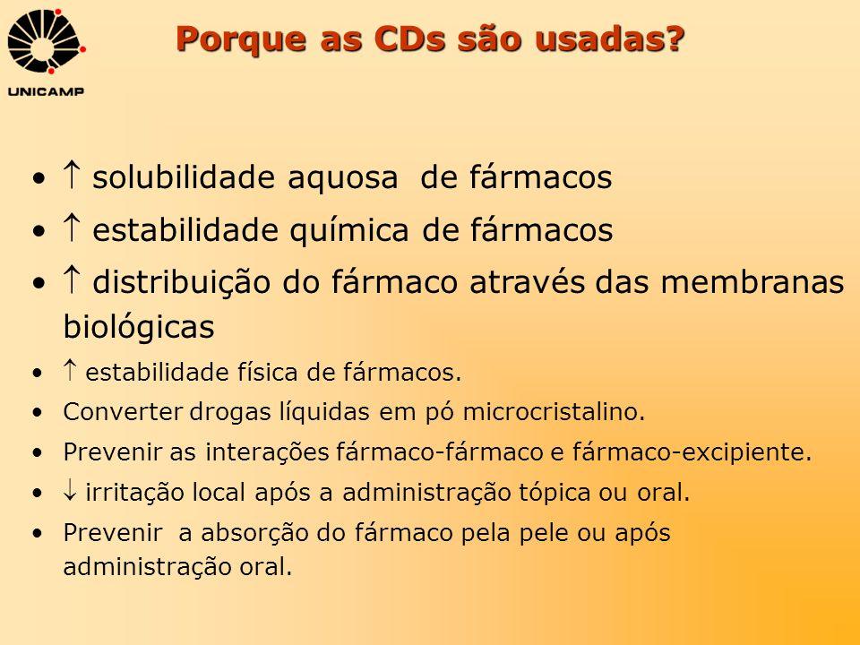 Porque as CDs são usadas