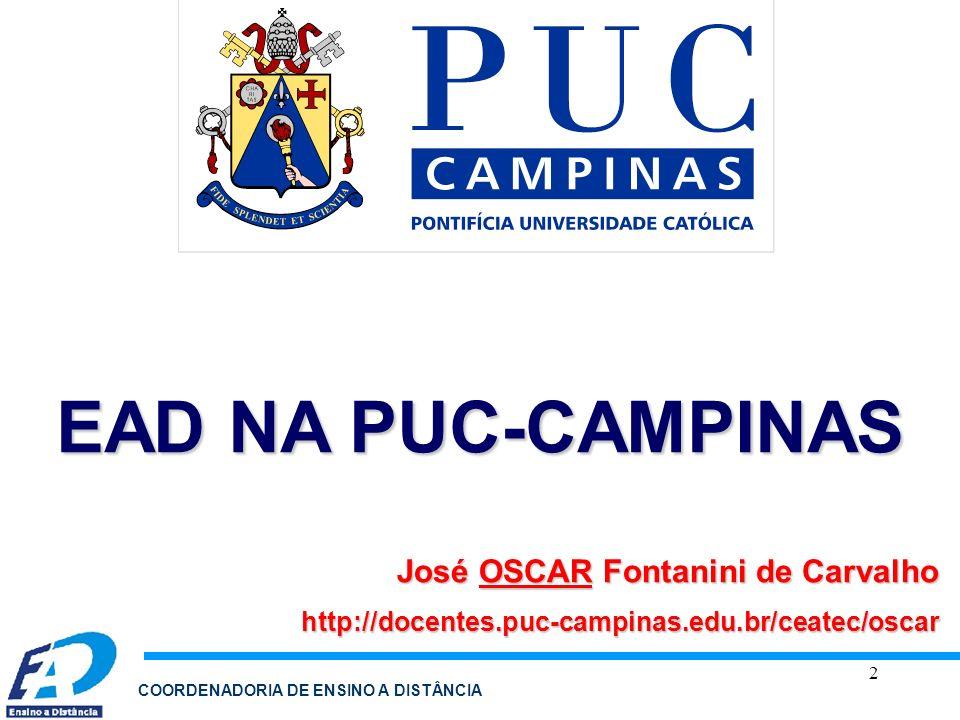 EAD NA PUC-CAMPINAS José OSCAR Fontanini de Carvalho