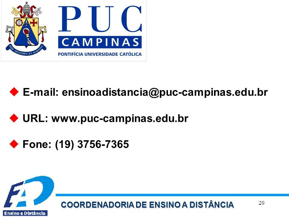 E-mail: ensinoadistancia@puc-campinas.edu.br