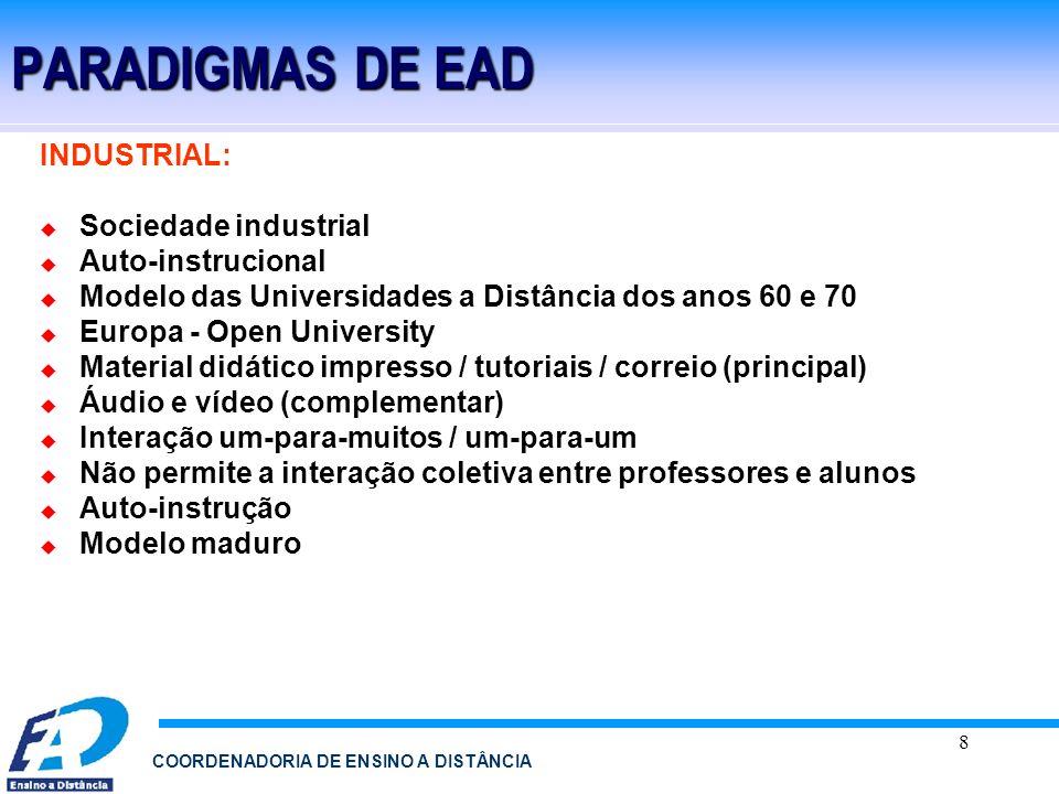 PARADIGMAS DE EAD INDUSTRIAL: Sociedade industrial Auto-instrucional