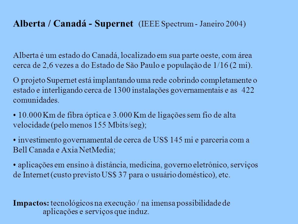 Alberta / Canadá - Supernet (IEEE Spectrum - Janeiro 2004)