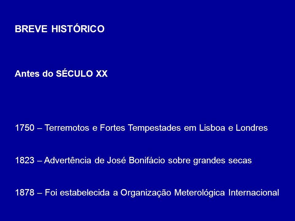 BREVE HISTÓRICO Antes do SÉCULO XX