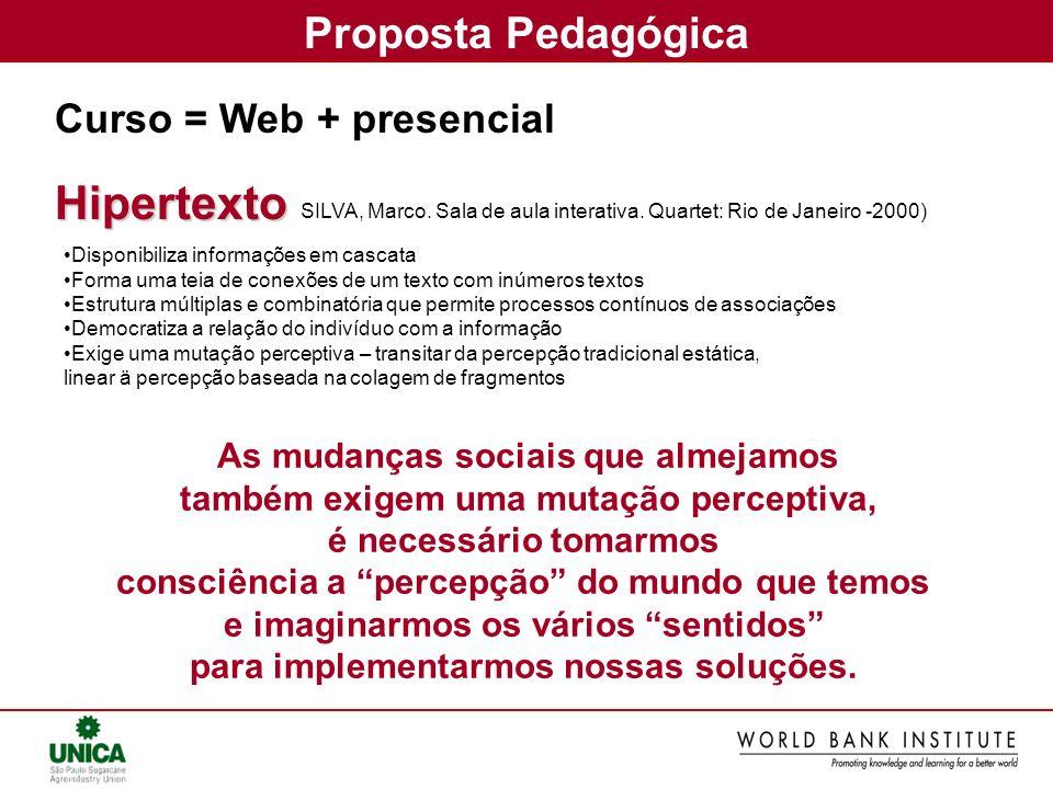 Hipertexto Proposta Pedagógica Curso = Web + presencial
