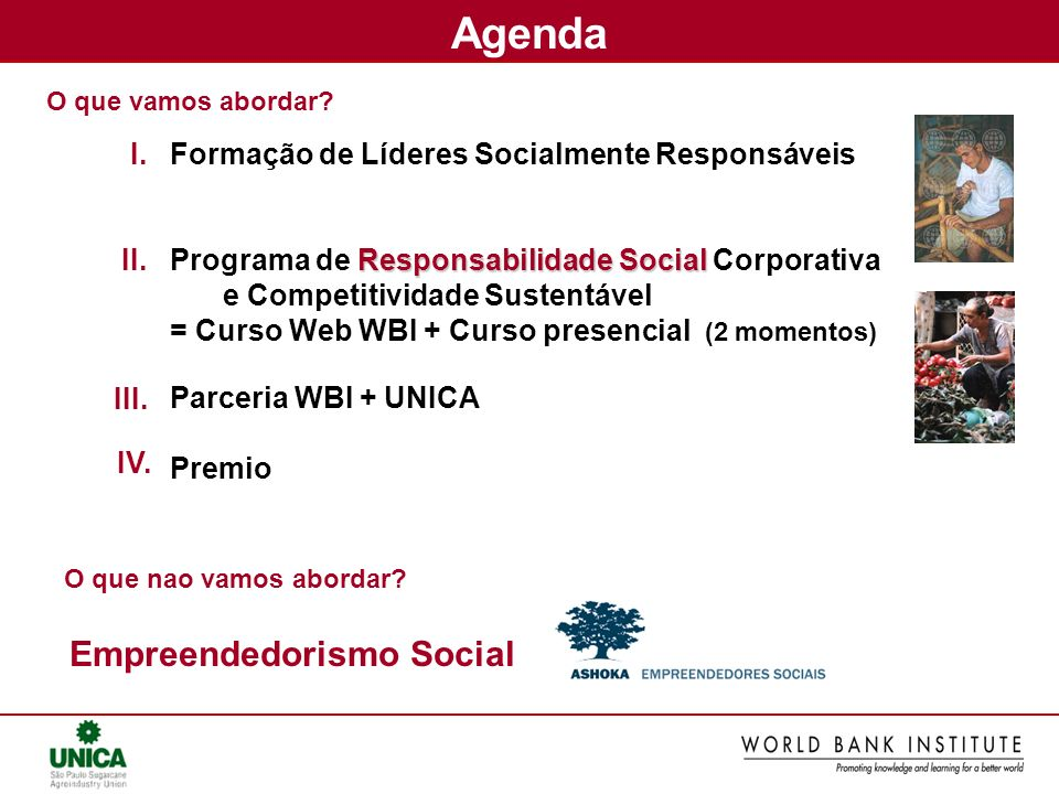 Agenda Empreendedorismo Social I.