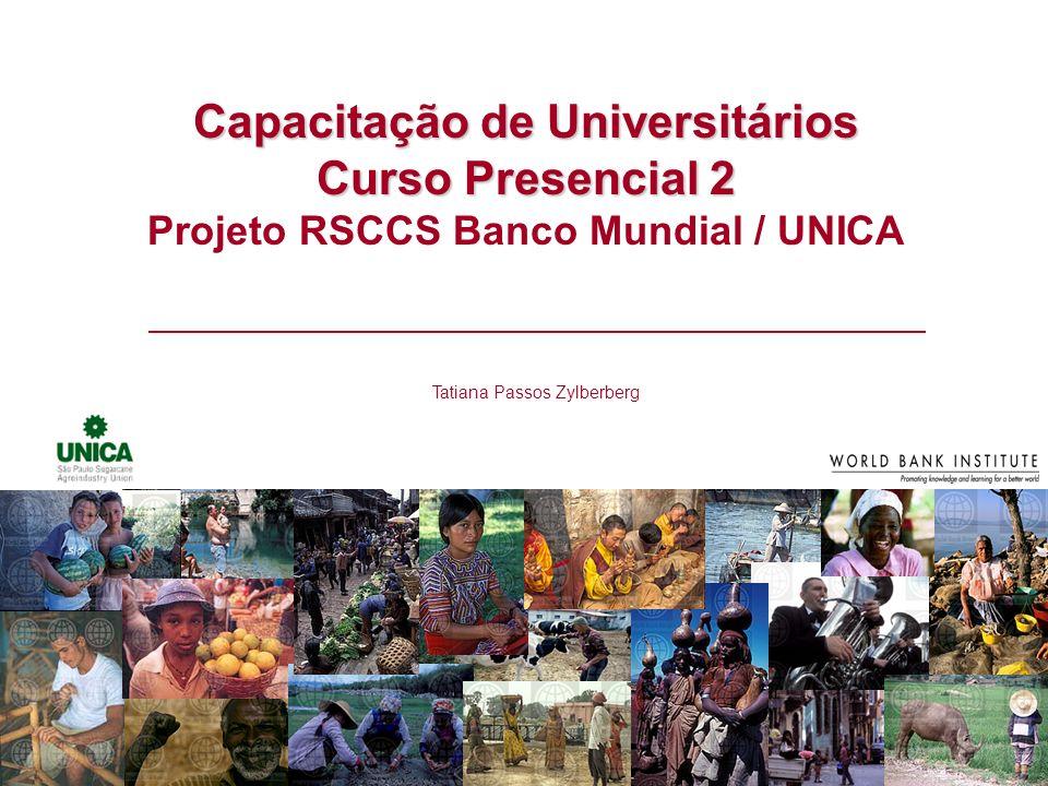 Capacitação de Universitários Projeto RSCCS Banco Mundial / UNICA