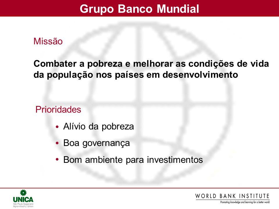 Grupo Banco Mundial Missão