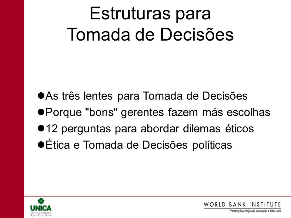 Estruturas para Tomada de Decisões
