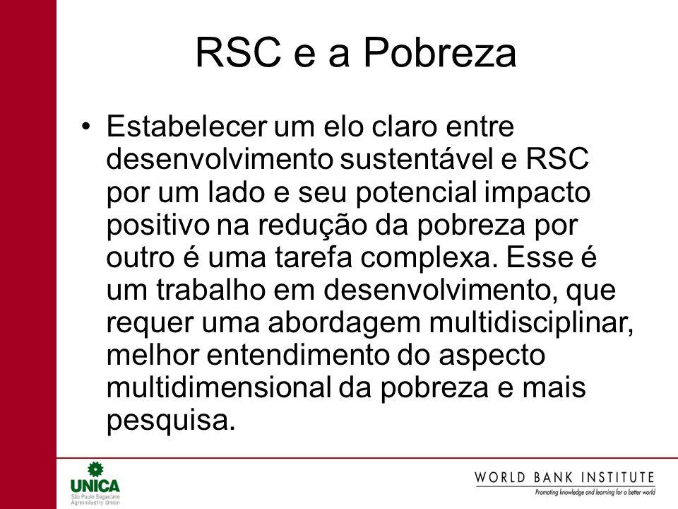 RSC e a Pobreza