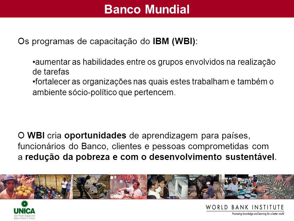 Banco Mundial Os programas de capacitação do IBM (WBI):