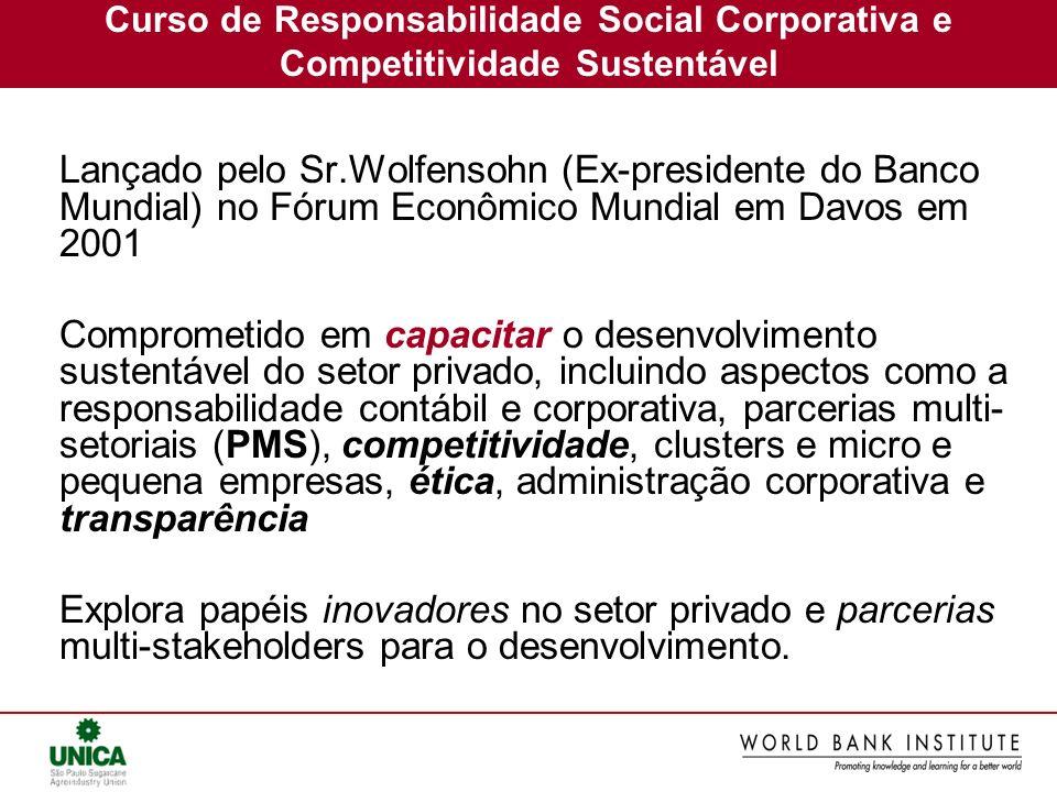 Curso de Responsabilidade Social Corporativa e