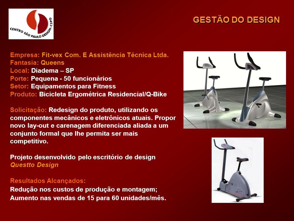 GESTÃO DO DESIGN Empresa: Fit-vex Com. E Assistência Técnica Ltda.