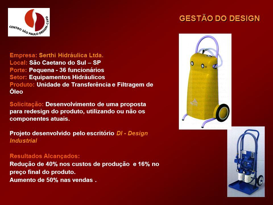 GESTÃO DO DESIGN Empresa: Serthi Hidráulica Ltda.