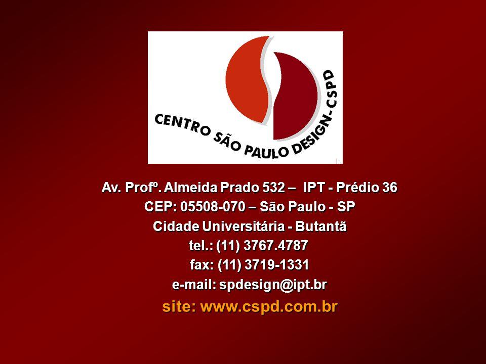 site: www.cspd.com.br Av. Profº. Almeida Prado 532 – IPT - Prédio 36