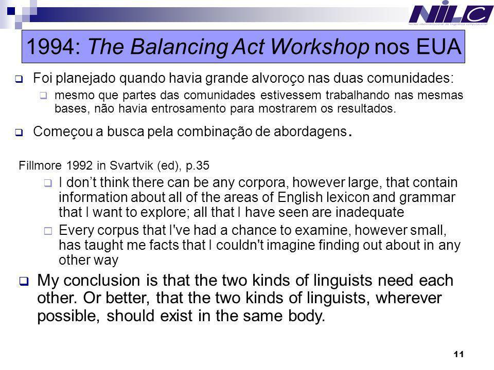 1994: The Balancing Act Workshop nos EUA