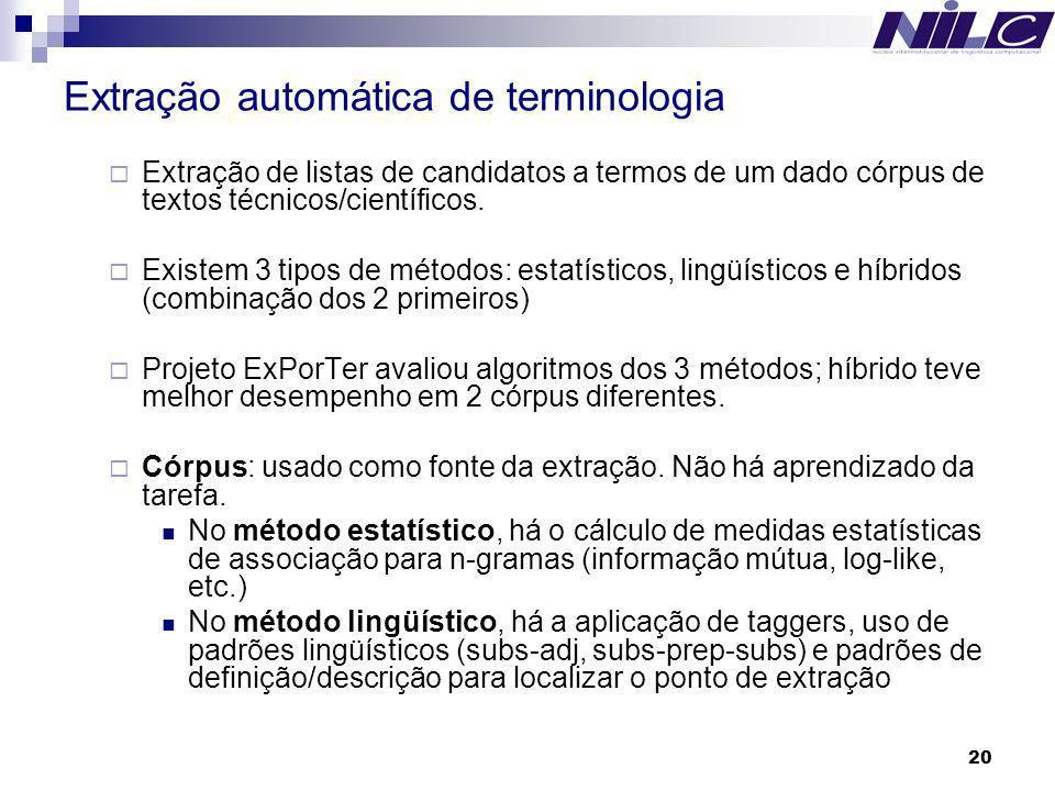 Extração automática de terminologia