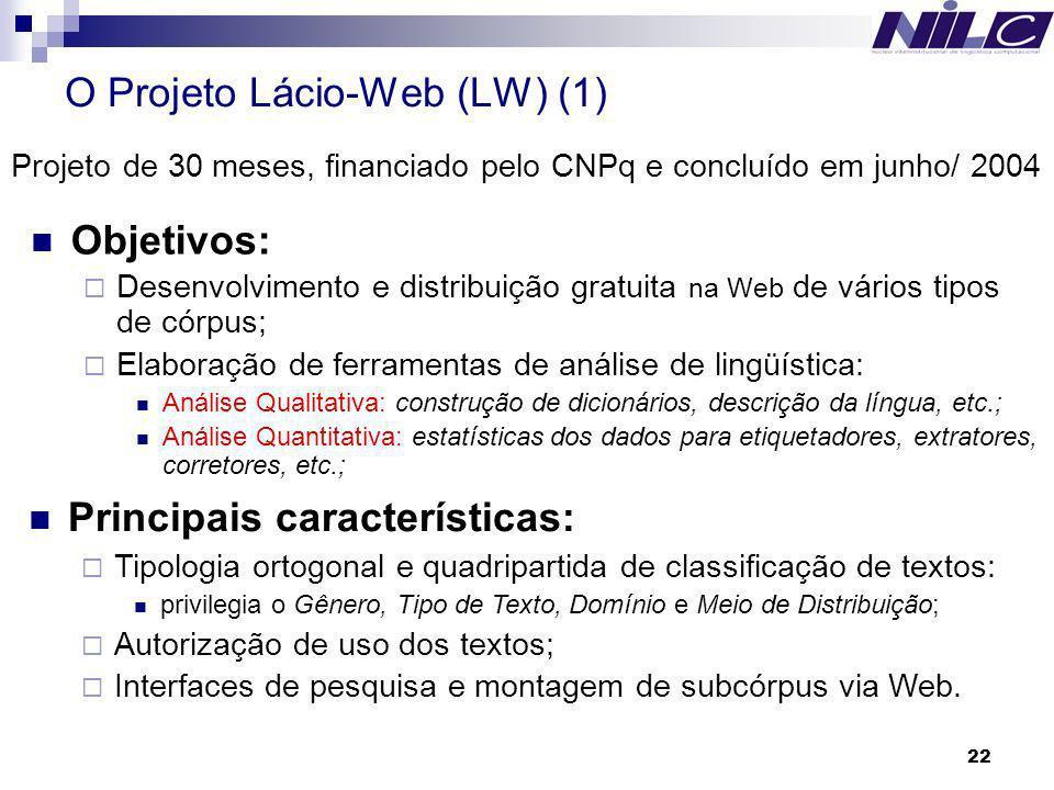 O Projeto Lácio-Web (LW) (1)