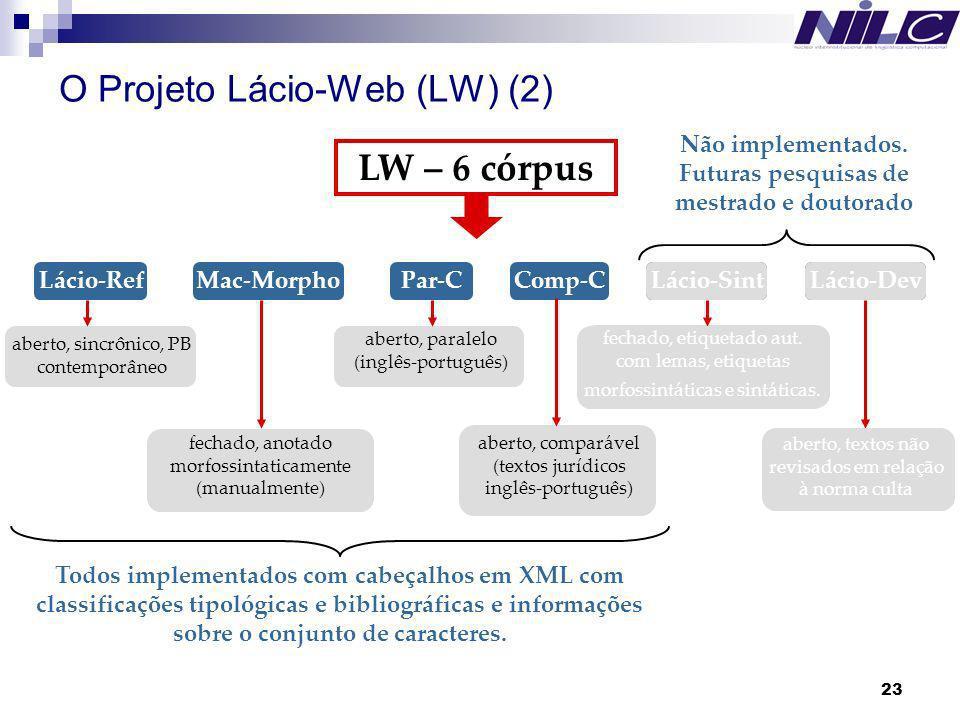 O Projeto Lácio-Web (LW) (2)