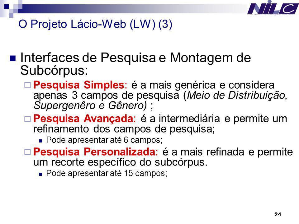 O Projeto Lácio-Web (LW) (3)