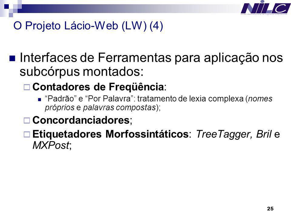 O Projeto Lácio-Web (LW) (4)