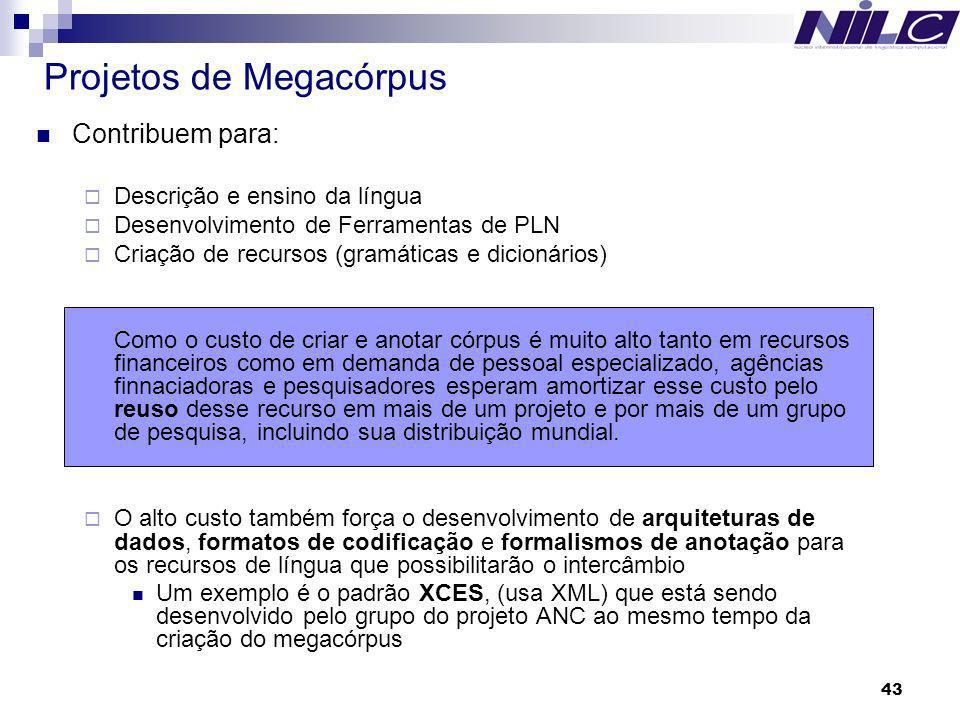 Projetos de Megacórpus