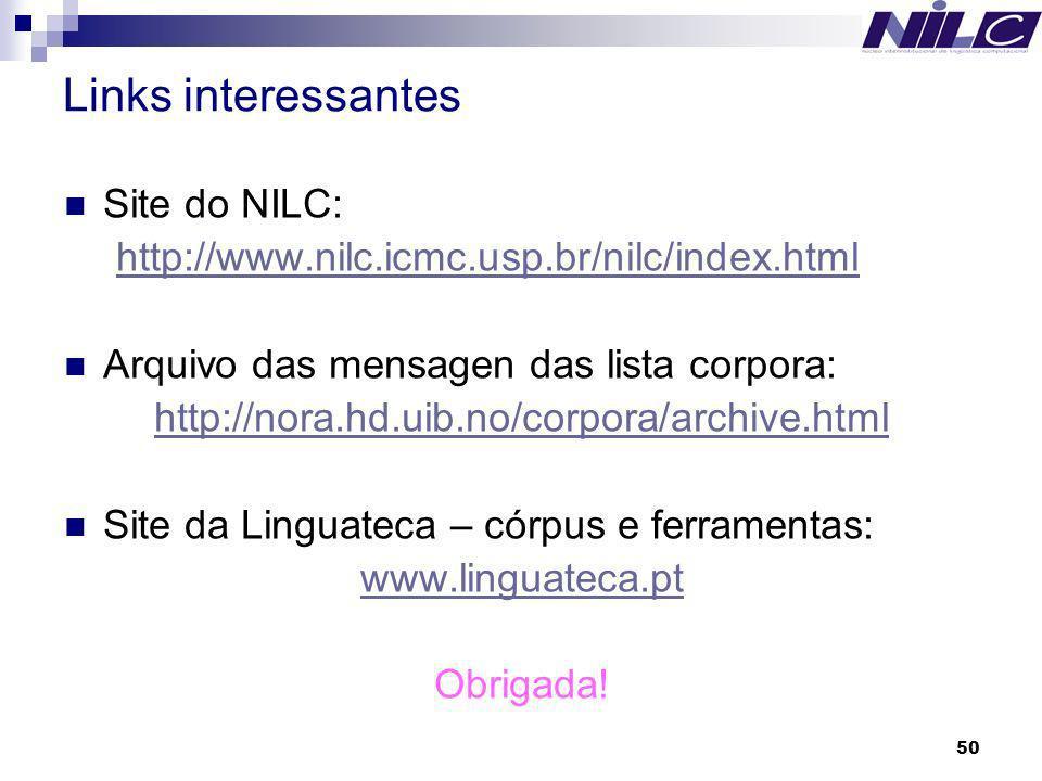 Links interessantes Site do NILC: