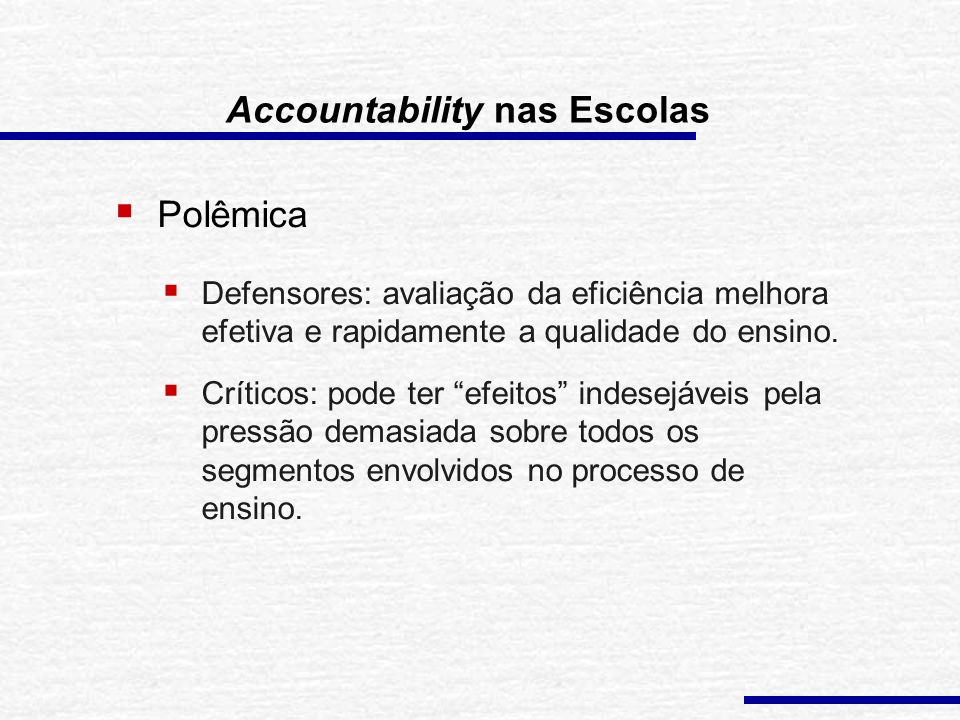 Accountability nas Escolas