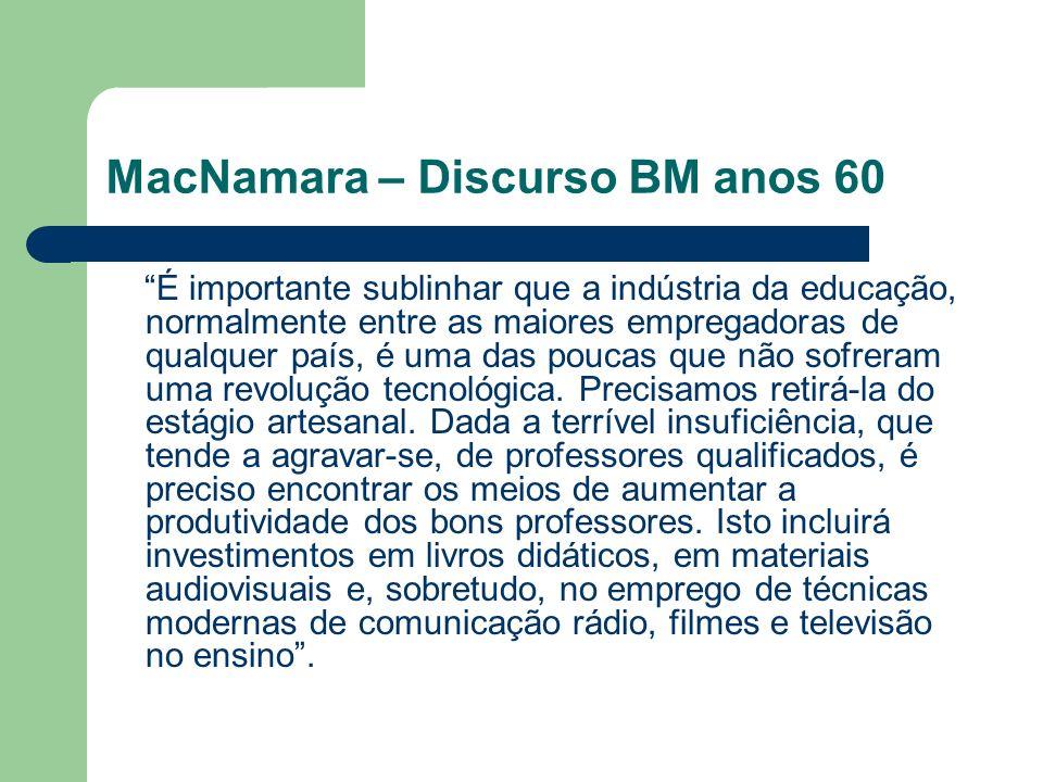MacNamara – Discurso BM anos 60