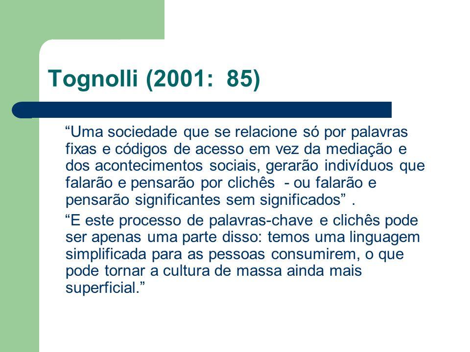 Tognolli (2001: 85)