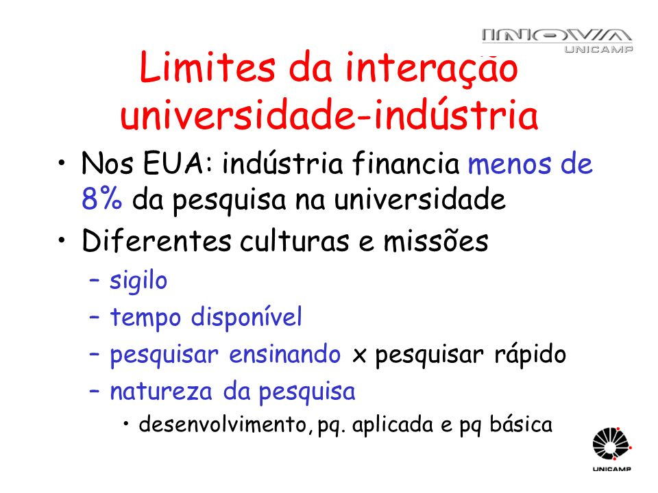 Limites da interação universidade-indústria