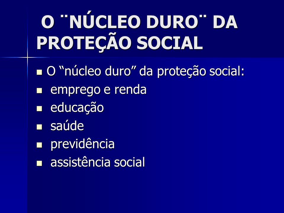 O ¨NÚCLEO DURO¨ DA PROTEÇÃO SOCIAL