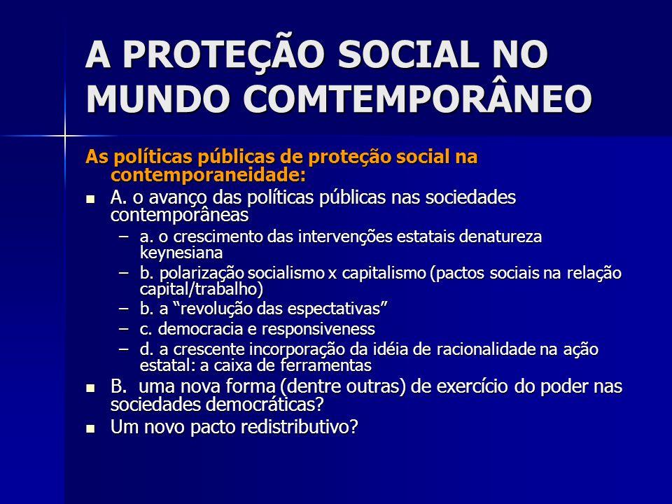 A PROTEÇÃO SOCIAL NO MUNDO COMTEMPORÂNEO