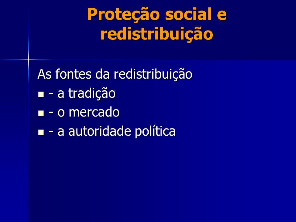 Proteção social e redistribuição