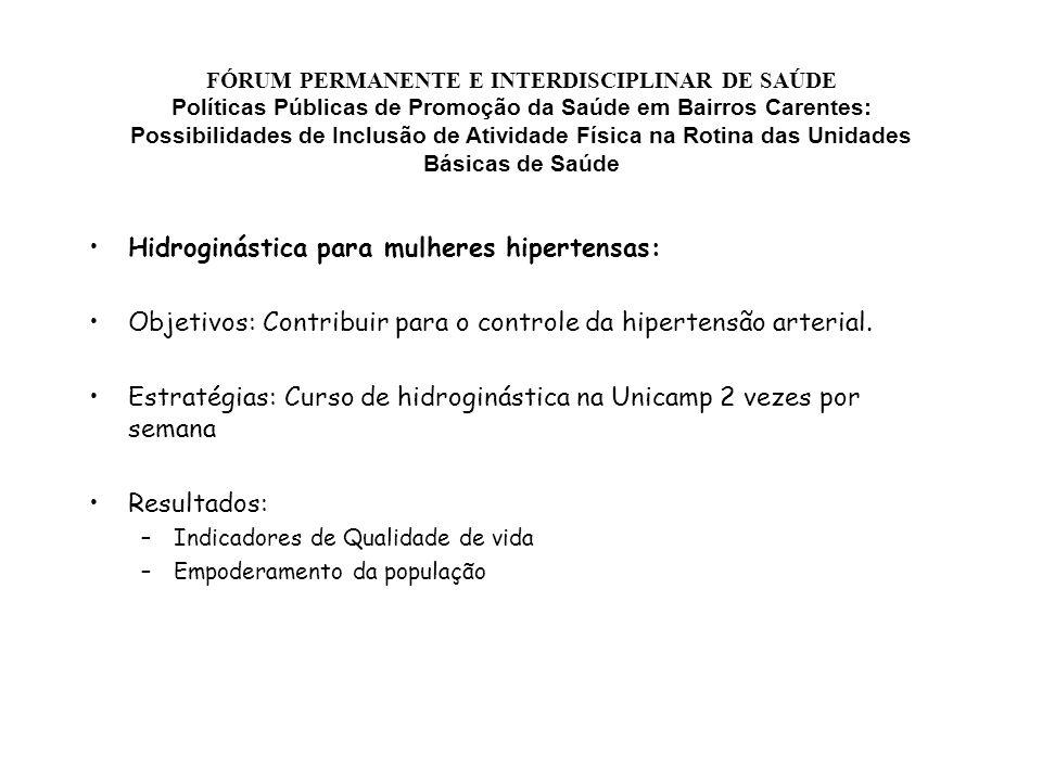 Hidroginástica para mulheres hipertensas: