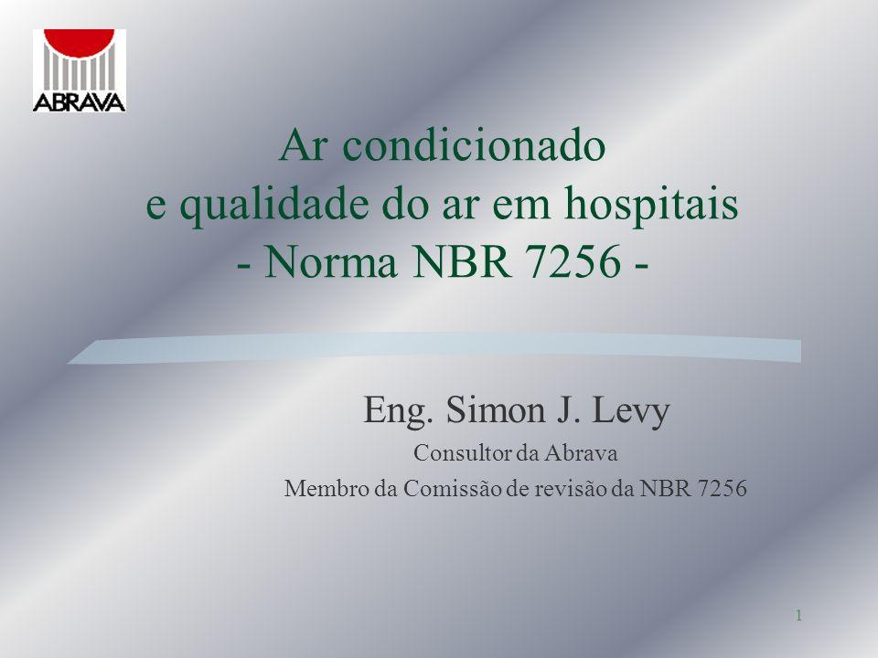 Ar condicionado e qualidade do ar em hospitais - Norma NBR 7256 -
